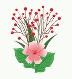 Mooie bloemen met bladeren Royalty-vrije Stock Foto's
