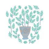 Mooie Bloemen in Potten, Vectorillustratie Stock Foto