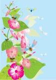 Mooie bloemen. Vector. stock illustratie