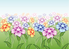 Mooie bloemen. Vector. Royalty-vrije Stock Foto's