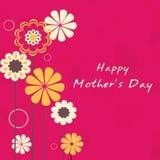 De gelukkige viering van de Dag van Moeders. vector illustratie