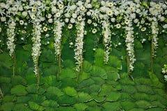 Mooie bloemenachtergrond voor huwelijk stock foto