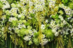 Mooie bloemenachtergrond voor huwelijk royalty-vrije stock afbeeldingen