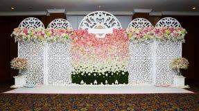 Mooie bloemenachtergrond voor huwelijk stock foto's