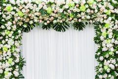 Mooie bloemenachtergrond voor huwelijk royalty-vrije stock foto