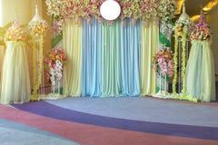 Mooie bloemenachtergrond voor huwelijksscène Royalty-vrije Stock Foto's