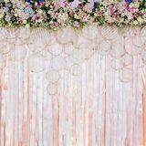 Mooie bloemenachtergrond voor huwelijksscène Stock Foto's