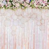 Mooie bloemenachtergrond voor huwelijksscène Stock Afbeeldingen