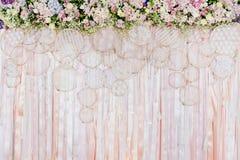 Mooie bloemenachtergrond voor huwelijksscène Royalty-vrije Stock Afbeelding