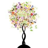 Mooie bloemenboom vector illustratie