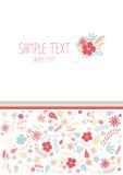 Mooie bloemengroetkaart Royalty-vrije Stock Foto's