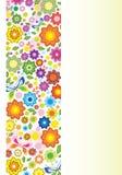 Mooie bloemenillustratie met vlinder Stock Afbeeldingen