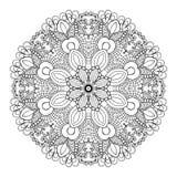 Mooie Bloemenmandala Stock Afbeelding