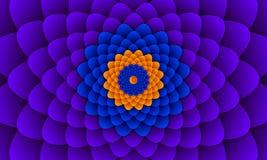 Mooie bloemrijke effect achtergrond stock illustratie