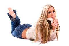 Mooie blond. Royalty-vrije Stock Afbeelding