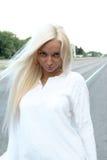 Mooie blonde royalty-vrije stock foto's