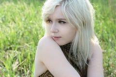 Mooie blonde Stock Foto's