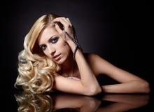 Mooie blonde royalty-vrije stock afbeeldingen