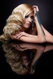 Mooie blonde stock foto