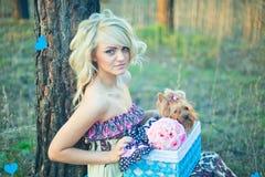Mooie blonde Royalty-vrije Stock Afbeelding