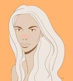 Mooie blonde vector illustratie