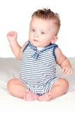 Mooie blonde babe met blauwe ogen royalty-vrije stock fotografie
