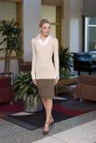 Mooie blonde bedrijfsvrouw Royalty-vrije Stock Afbeelding