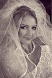 Mooie blonde bruid vector illustratie