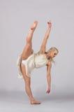 Mooie Blonde Eigentijdse Danser - Verticale Spleet Royalty-vrije Stock Foto's