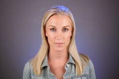 Mooie Blonde, Headshot (1) royalty-vrije stock foto