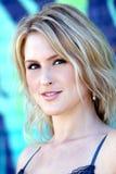 Mooie blonde jonge vrouw Stock Fotografie