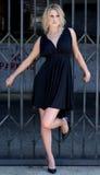Mooie blonde jonge vrouw Stock Foto