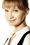 Mooie blonde met blauwe ogen Royalty-vrije Stock Fotografie