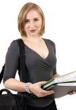 Mooie blonde onderneemster Royalty-vrije Stock Foto's