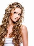 Mooie blonde vrouw Royalty-vrije Stock Afbeeldingen