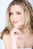 Mooie blonde vrouw royalty-vrije stock foto's