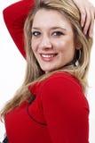 Mooie blonde vrouw Stock Afbeeldingen