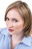 Mooie blonde vrouw Stock Fotografie