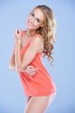Mooie blondemannequin Stock Foto