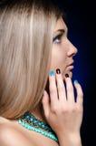 Mooie blondevrouw Stock Afbeelding
