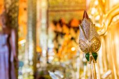 Mooie Boedha in Boeddhisme de verering van de Thaise mensen royalty-vrije stock foto's