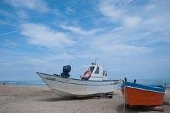 Mooie boten op het strand Sinigallia Royalty-vrije Stock Afbeelding