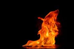 Mooie brandvlammen Royalty-vrije Stock Foto's