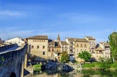 Mooie brug in het dorp Royalty-vrije Stock Afbeelding