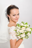Mooie bruid. Royalty-vrije Stock Afbeeldingen