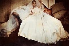 Mooie bruid stock illustratie