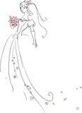 Mooie Bruid Stock Afbeelding