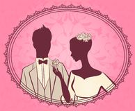 Mooie bruid en bruidegom vector illustratie
