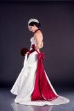 Mooie bruid in huwelijkskleding Stock Foto's