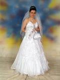 Mooie bruid in huwelijkskleding Royalty-vrije Stock Fotografie